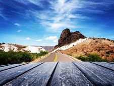 Free Scenic View Of Mountain Road Against Blue Sky Stock Images - 94243814