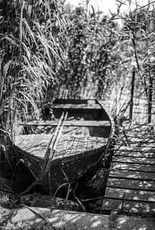 Free Lone Rowboat Stock Image - 94243841