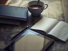 Free Books And Tablet On Table Royalty Free Stock Image - 94244036
