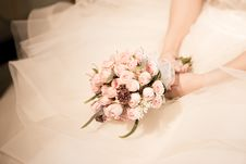 Free Bridal Bouquet And Gown Royalty Free Stock Photography - 94244097