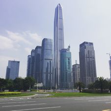 Free City Skyline With Skyscrapers, Shenzhen, China Royalty Free Stock Image - 94244146
