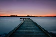 Free Wooden Dock In Lake At Sunset Royalty Free Stock Image - 94244156