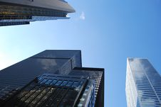 Free Low Angle View Of City Skyscrapers Stock Photography - 94244192
