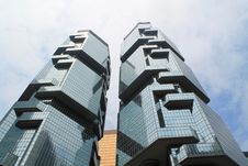 Free Low Angle View Of Office Building Against Sky Stock Images - 94244244