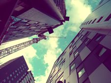 Free Modern Skyscrapers With Crane Stock Photo - 94244420