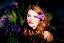 Free Flower, Beauty, Human Hair Color, Purple Stock Image - 94248451