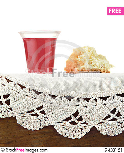 communion bread and wine on white background free stock