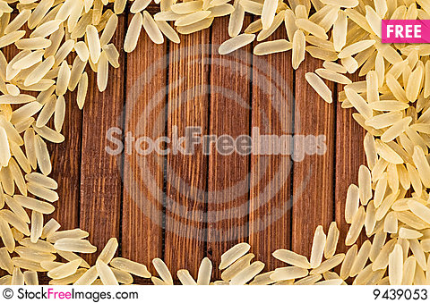 Free Frame Of Uncooked Rice Stock Photos - 9439053