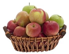 Free Apple Basket Royalty Free Stock Photography - 9430027