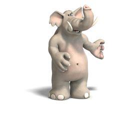 Free Toon Elephant Invites Stock Image - 9430211