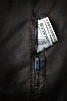 Free Money In The Pocket Stock Photography - 9430602
