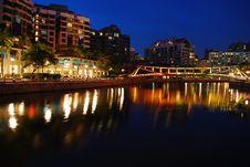 Free Colorful Bridge Along Singapore River Stock Photos - 9430753