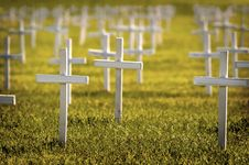 Rows Of Crosses Royalty Free Stock Photos
