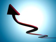 Free Red Upward Arrow Icon Stock Photography - 9431012