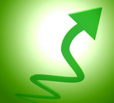 Green Upward Arrow Icon Stock Image