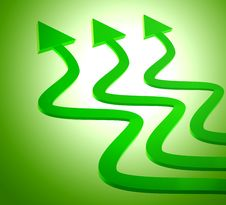 Green Upward Arrow Icon Stock Photos