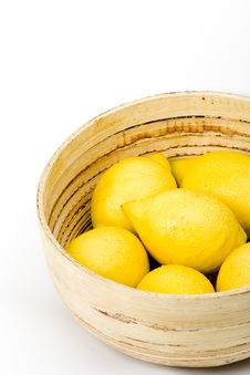 Free Bowl Of Lemons Royalty Free Stock Photography - 9431487