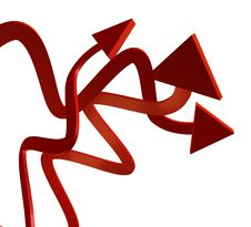 Red Upward Arrow Icon Stock Photos