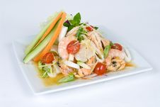 Free Fresh Shrimp Salad Stock Photo - 9431790