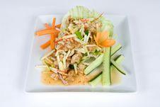 Free Crispy Fried Tofu Salad Stock Images - 9431894