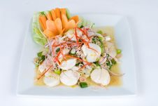 Free Fresh Scallop Salad Royalty Free Stock Photo - 9431925