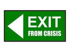 Free Exit From Crisis Royalty Free Stock Images - 9432149