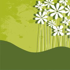 Free Fun Grunge Flowers Stock Image - 9432371