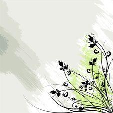 Free Grunge Floral Royalty Free Stock Image - 9432376