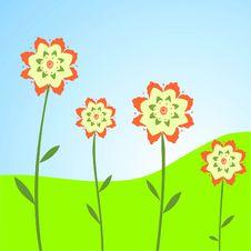 Free Fun Spring Flowers Royalty Free Stock Photos - 9432378