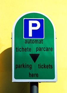 Free Parking Sign Stock Images - 9432804