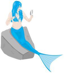 Free Grooming Mermaid Royalty Free Stock Images - 9433099