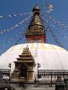 Free Nepalese Stupa Royalty Free Stock Photos - 9434158
