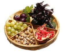 Free Vegetarian Basket Royalty Free Stock Photography - 9434247