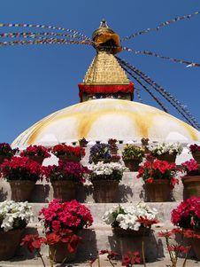 Free Nepalese Stupa Stock Image - 9434271