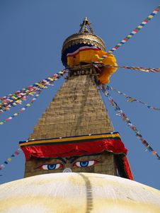 Free Nepalese Stupa Royalty Free Stock Image - 9434306