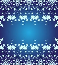 Free Blue Floral Background Royalty Free Stock Photos - 9435788