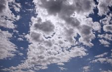 Cloudscape Before The Storm Royalty Free Stock Photos