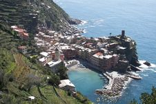 Free Village Vernazza Cinque Terre Italy Stock Photo - 94313900