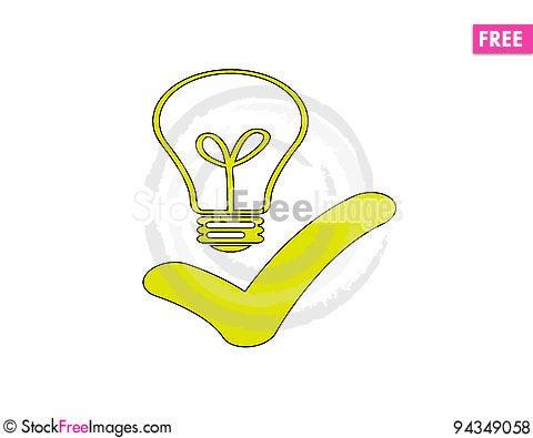 Free Good Idea Bulp Royalty Free Stock Photos - 94349058