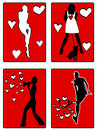 Free Woman Active Silhouettes Royalty Free Stock Images - 9443599