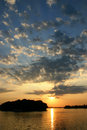 Free A Bright Sunset In A Still Evening Stock Photos - 9443903