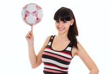 Free Woman With A Football Stock Image - 9440061