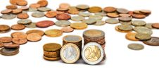 Free Piles Of Coins Royalty Free Stock Image - 9440206