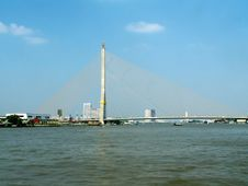 Free Bridge Over Chao Phraya River Royalty Free Stock Photos - 9440388