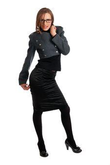 Free Aggressive Sexy Model Posing Stock Photos - 9441023