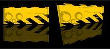 Vector Grunge Danger Banner Royalty Free Stock Images