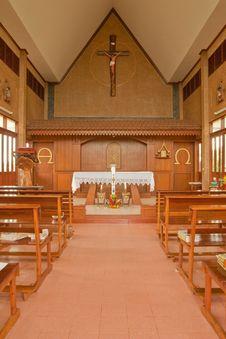 Free Catholic Church In Thailand Royalty Free Stock Photos - 9441568