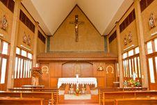 Free Catholic Church In Thailand Stock Photography - 9441672