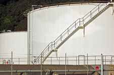Free Chemical Storage Tanks At Seaview Stock Image - 9441811