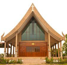 Free Catholic Church In Thailand Stock Image - 9441901